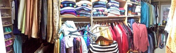 I love that @CraigSagerJr tweeted a pic of his dad's closet to @CNNJustin http://t.co/ZKR9XVpmiw