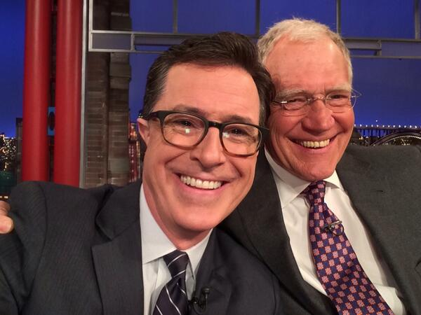 David Letterman and Steven Colbert Take Selfie