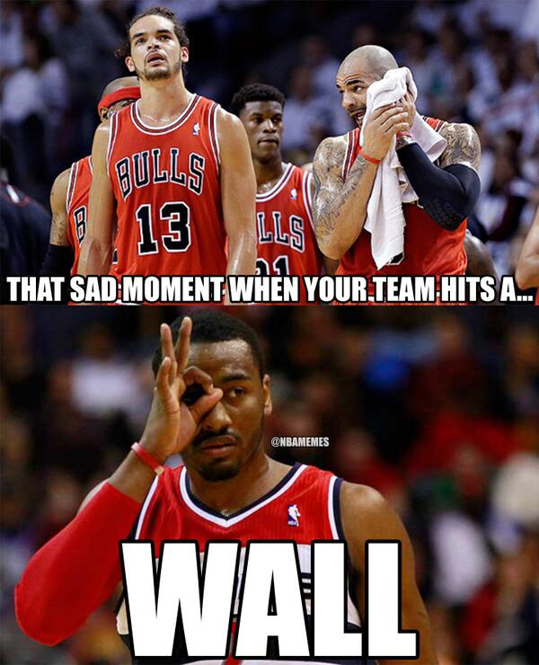 Nba Memes On Twitter The Chicago Bulls Have Hit A Wall