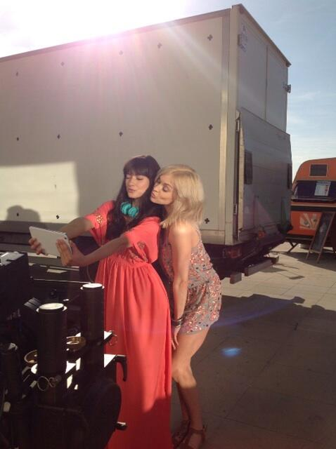 Behind the scenes she of the new @verynetwork TV advert. Cannot wait to wear this jumpsuit in the sun! http://t.co/hKQQ3BdLtR