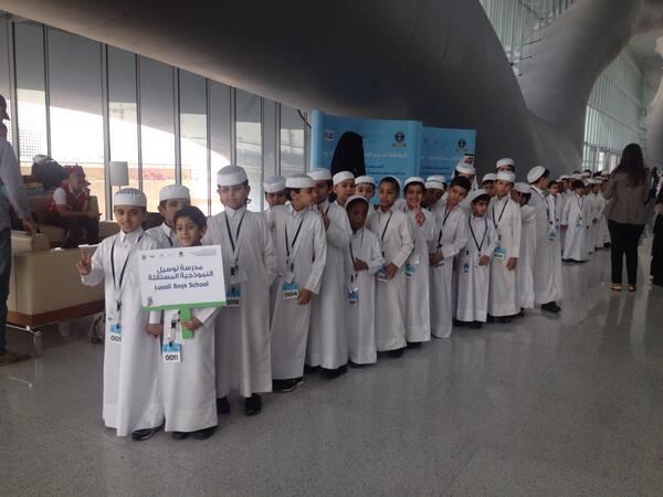 Great to see the kids excited as they prepare to attempt to break a @GWR in #Qatar @MaktabaQatar #wbdqa @iloveqatar http://t.co/OnnKfVVQOf