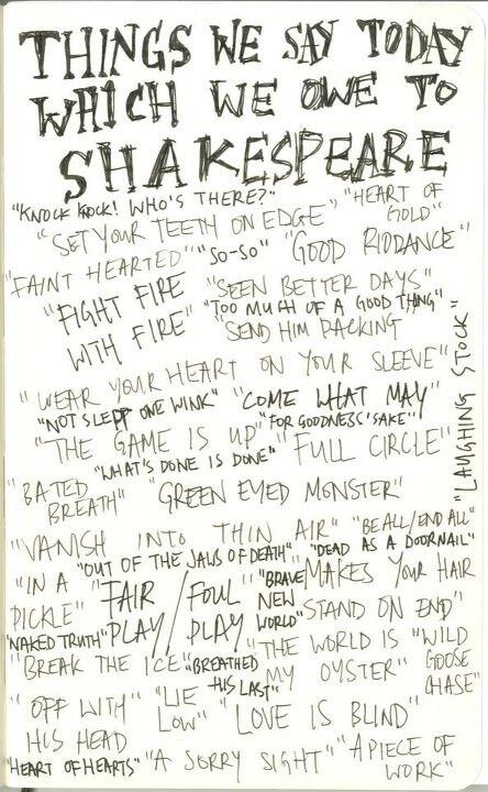 Just some of the everyday phrases we owe our wonderful 450 year old birthday boy (via @JRhodesPianist) http://t.co/XTloUtjyOc
