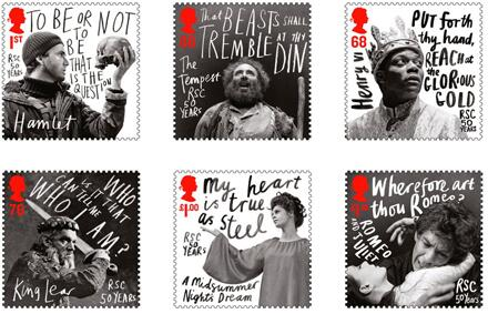 In these 6 stamps @hattrick_design captured both the drama of @TheRSC & a 2012 In Book spot #HappyBirthdayShakespeare http://t.co/w55Yuqflp2