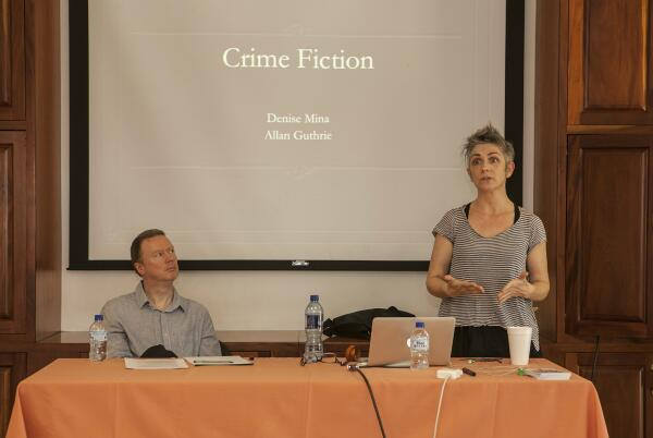 @DameDeniseMina and @allanguthrie kick off the inaugural #bocas2014 workshop, in conjunction w/@BloodyScotland: http://t.co/XTnzXo8hwC