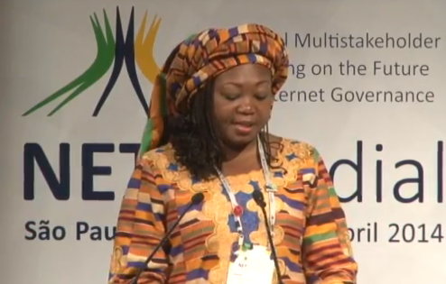 """My name is @nnenna and I come from the Internets…"" #NetMundial2014 #NetMundial #OurNetMundial http://t.co/RfCysti4zU"