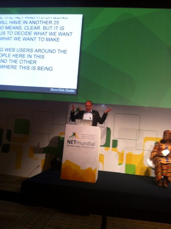 Tim Burners-Lee -We need a global magna carta for the web (to protect human rights on the net) #netmundial2014 http://t.co/HQg1xNum07