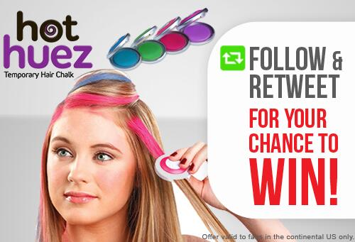 #GIVEAWAY! Follow & RT for your chance to win #HotHuez Deluxe Temporary Hair Chalk! http://t.co/dI8MmyZOQH http://t.co/PcOJAWI1FG