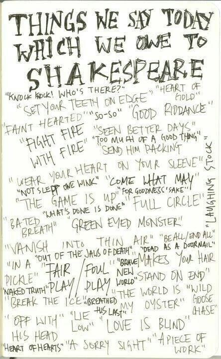 #HappyBirthdayShakespeare The guy who gave us these amazing sayings that are used even today http://t.co/PhQGKr8Cgu