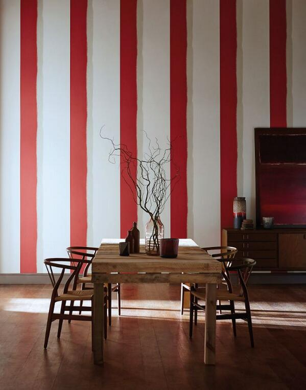 Dulux amazing space on twitter happy stgeorgesday to - Salones pintados a rayas ...