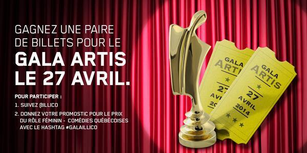 À gagner : 1 paire de billets pour assister au @GalaARTIS! http://t.co/dKgKQyw3Q5