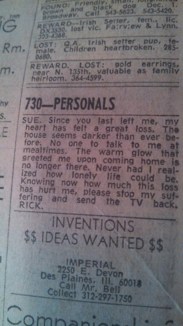 great personal ad examples