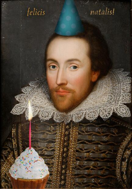 It's somebody's birthday today...!!!! #HappyBirthdayShakespeare  #Shakespeare450th  #shakespearesbirthday http://t.co/CQi34FtFdO
