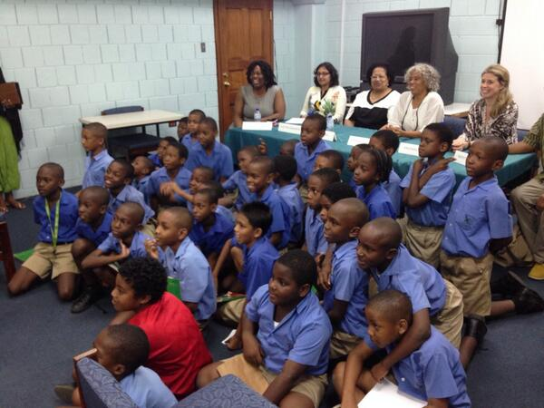 The kids made our morning! Tunapuna RC School kids were at @bocaslitfest panel today at UWI St. Augustine #Trinidad http://t.co/FE8rmwy8u3