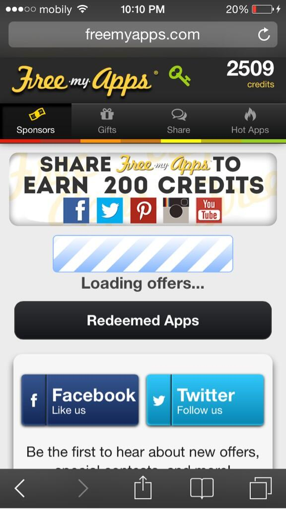 free my apps free credits