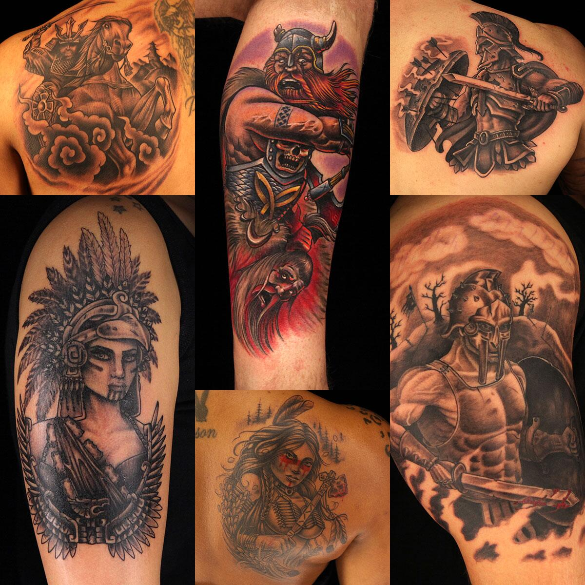 Ink master on twitter it was all about warrior tattoos for Best tattoo ink to use
