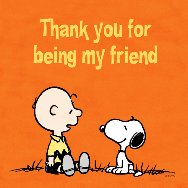 Peanuts On Twitter Thank You For Being My Friend Httptco