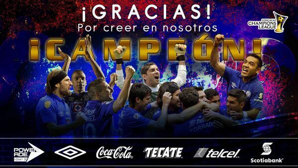 Cruz Azul CAMPEÓN!! #TheChampions #Concacaf #AzulDeCorazón http://t.co/7QKfsD1jbL