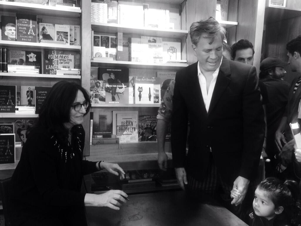 Meeting her littlest fan! @FrancineProse chats with our founder @robertcduffy & Victoria at #Bookmarc NY. Come by! http://t.co/WO8juK5QKT