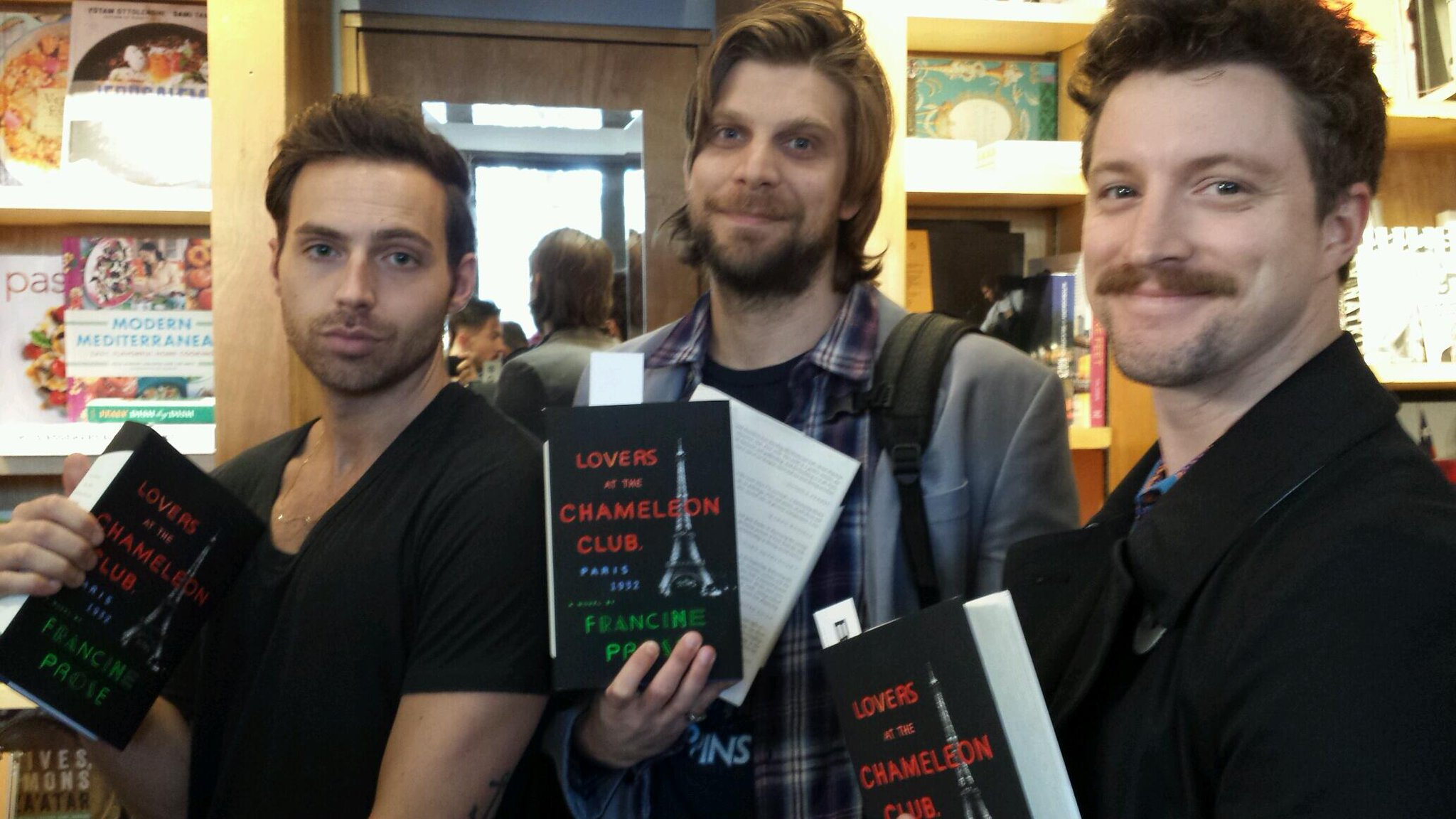Hunks are lining up to get their books signed by @FrancineProse. Stop by #Bookmarc NY & say hi! http://t.co/ZyJ0irtjvG