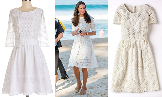 Get the look! Duchess Kate Middleton's gorgeous eyelet dress: http://t.co/E8Mgv40rBO http://t.co/dSUh7VoG6B