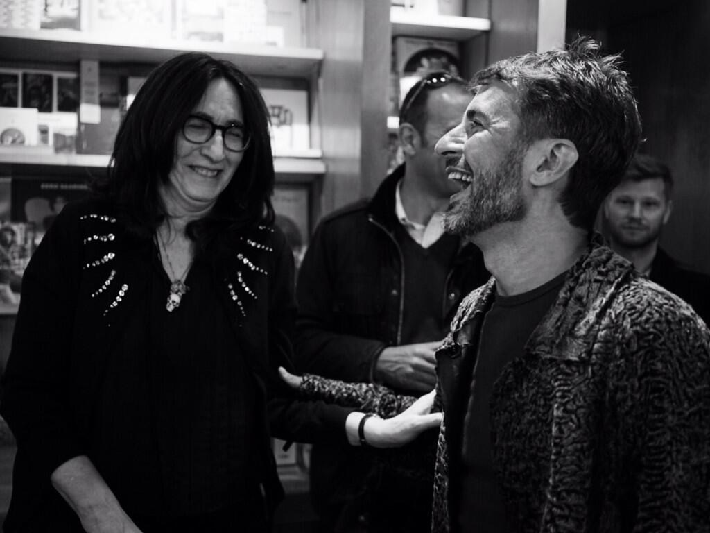 All laughs w/ Marc & @FrancineProse at #Bookmarc NY. Celebrating her latest work 'Lovers at the Chameleon Club'! http://t.co/jazIVB6pZ1