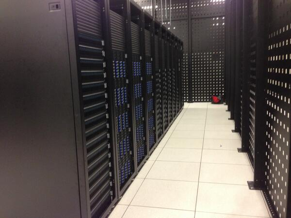DC1 of a new OpenStack private cloud, L->R: 240TB Block, 540TB Object, 1664 cores of compute. This is just a pilot. http://t.co/NS8Q5vDCb0