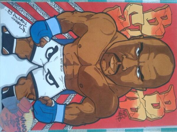My last drawing for @BobSappMMA @BadBoy by a French artist @Vincenthury Pride Never Die