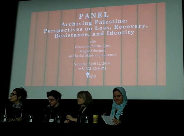 #ArchivingPalestine panel kicks off at #radarcs with discussion of recent information worker delegation to West Bank http://t.co/6VDYaORome