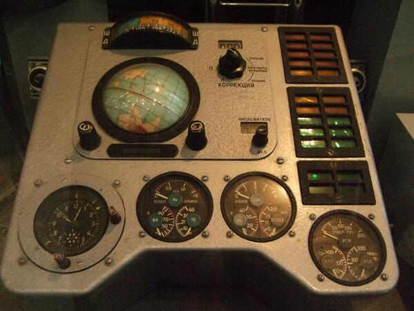 Designers should have a most favorite interface element. Mine is this globe on this Vostok 1 space shuttle.  http://t.co/PS86d4wZ64