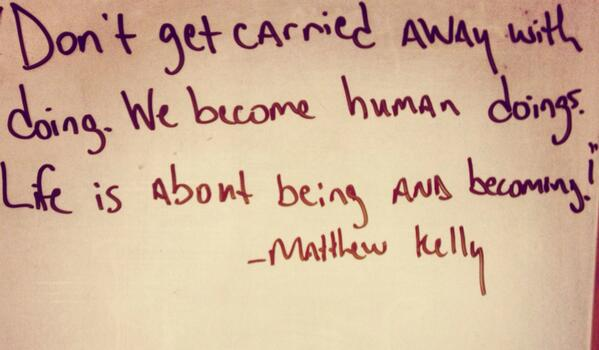 #catholicedchat thanks for the engaging discussion! Enjoy your Saturdays. Leave you with some Matthew Kelly http://t.co/MeFxScPOED