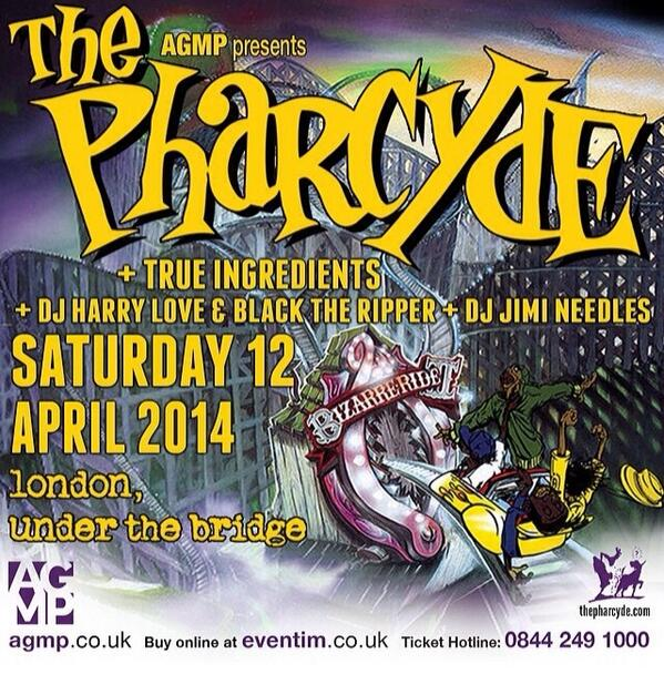Whos coming to this @thepharcyde show at Stamford Bridge tonight?? @BlackTheRipper @DJHarryLove #HighEndOnly http://t.co/ARr6I9GPne