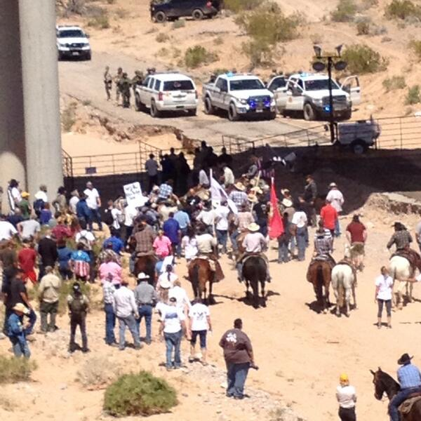 "Not yet ""@indyflynn: Police, protestors reach agreement. Cattle to be released in 30 minutes #rangewar #bundyranch http://t.co/v2aX0N09nT"""