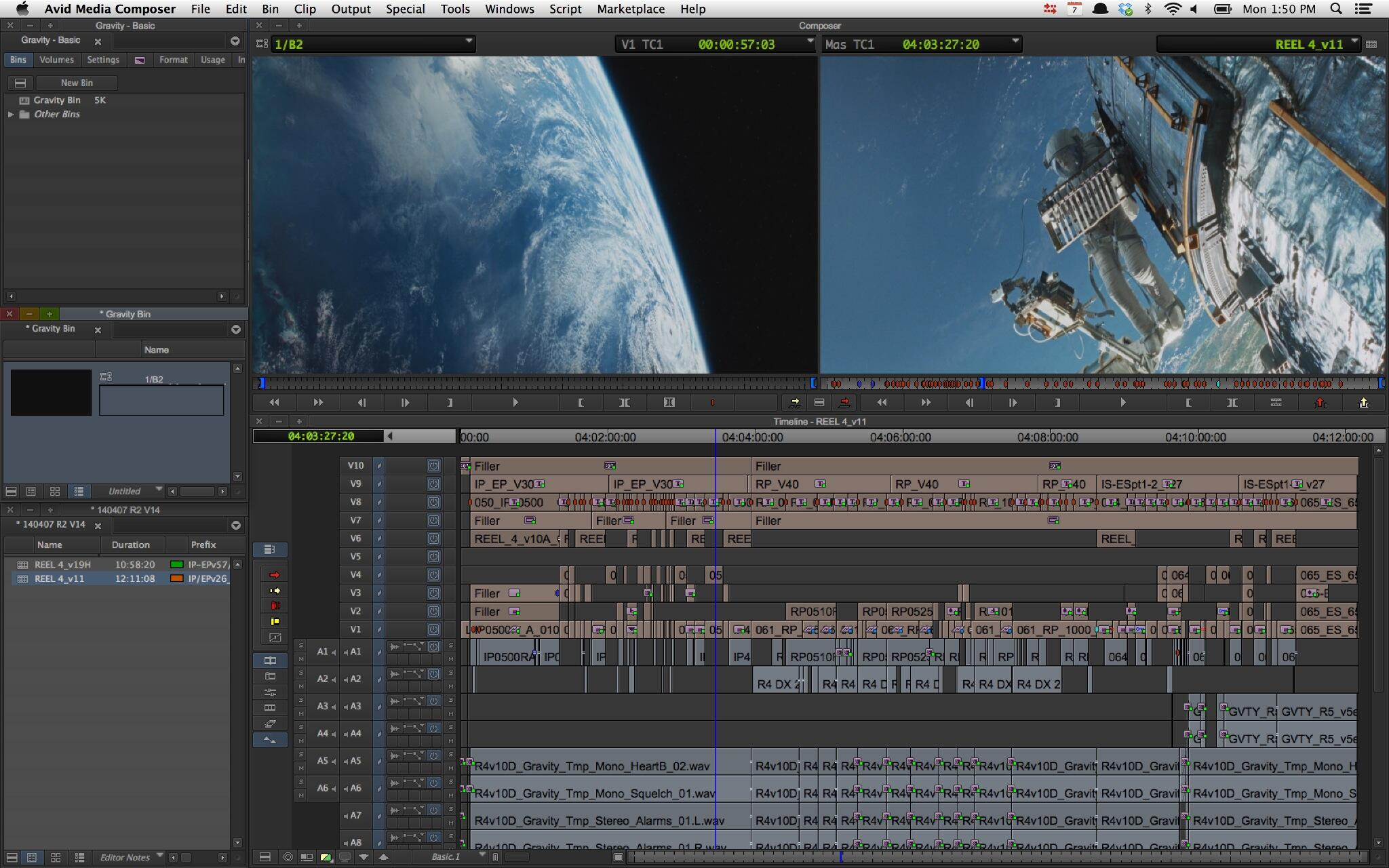 Making of Gravity - Editors Timeline
