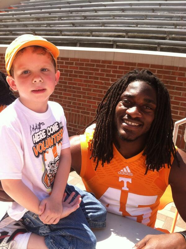 Peyton and @aj_thebeast_45 UT Spring Game http://t.co/qKsTYJsA1F