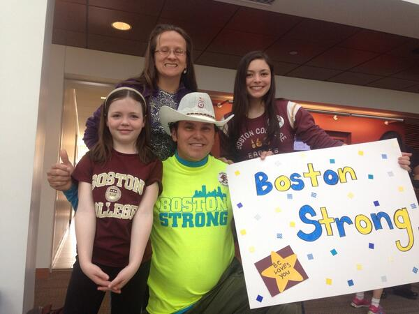 Two #FutureEagles meet @CArredondoGSDad #BostonStrong #EaglesForOthers @MaggieF33 http://t.co/ENpzrMMuML