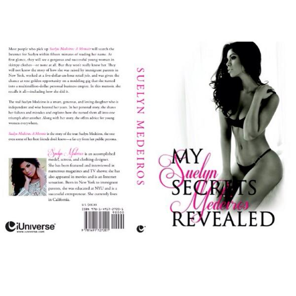 """My Book: Suelyn Medeiros """"MY SECRETS REVEALED"""" is available now @ http://t.co/JUK3Vb88WI /Barnes and Noble http://t.co/UF8PJodnDK"""
