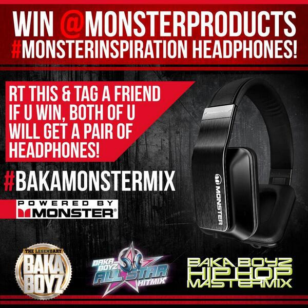 Don't forget to use these hashtags #bakamonstermix #monsterinspiration when you tag your friend to win! http://t.co/euXgstTZOP