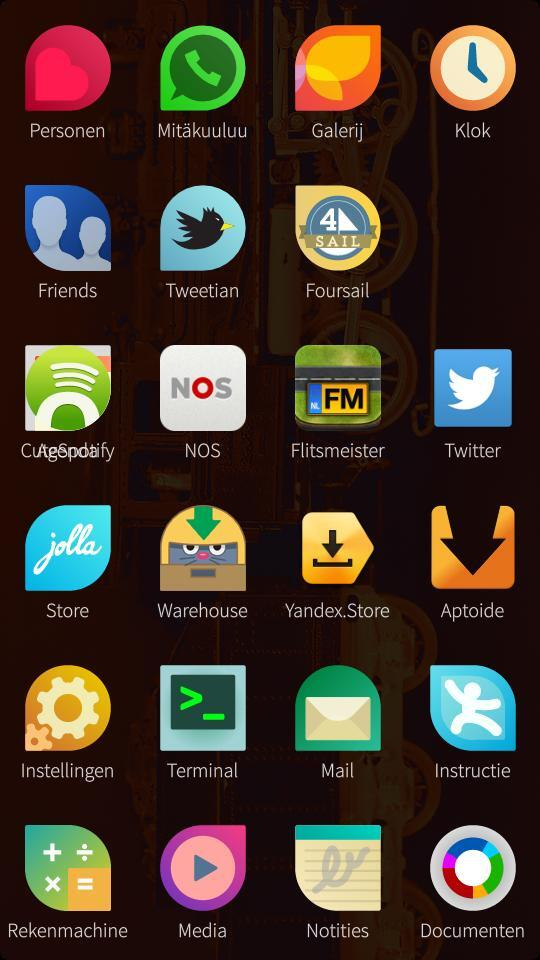 Overlapping app icons