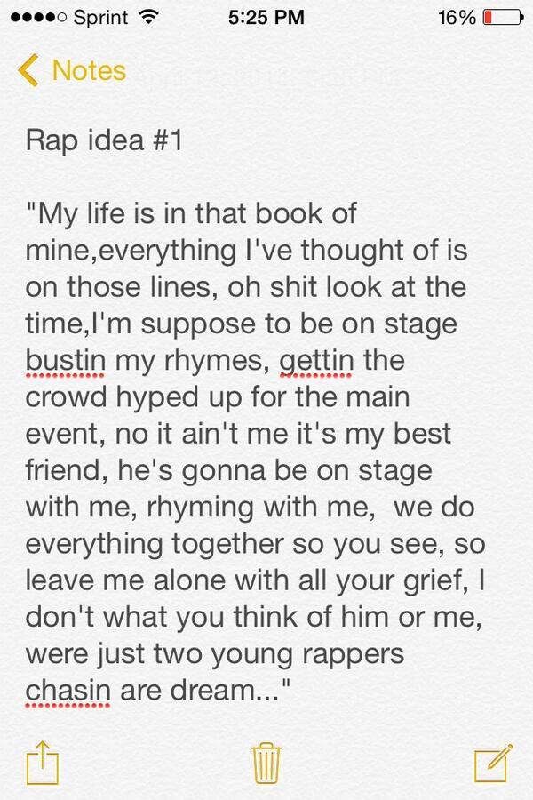 topics to write a rap about
