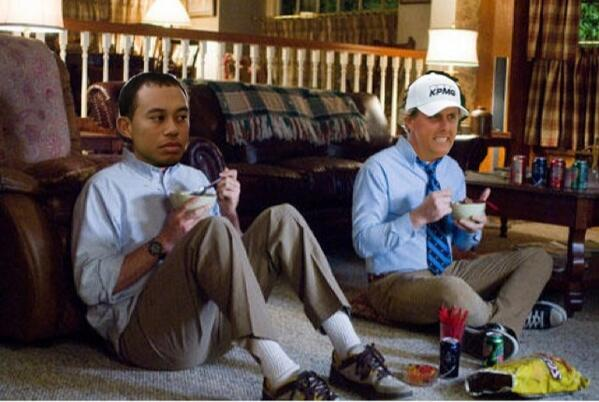 """That's adorable. """"@ShooterMcGavin_: BREAKING: Tiger and Phil watching The Masters together http://t.co/FLb0B6Lkke"""""""