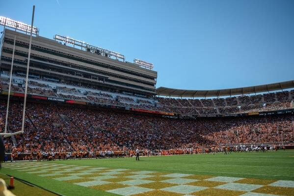 This is what 70,000 looks like for a spring game!! Thanks again Vol Fans! http://t.co/iGWKgul1da