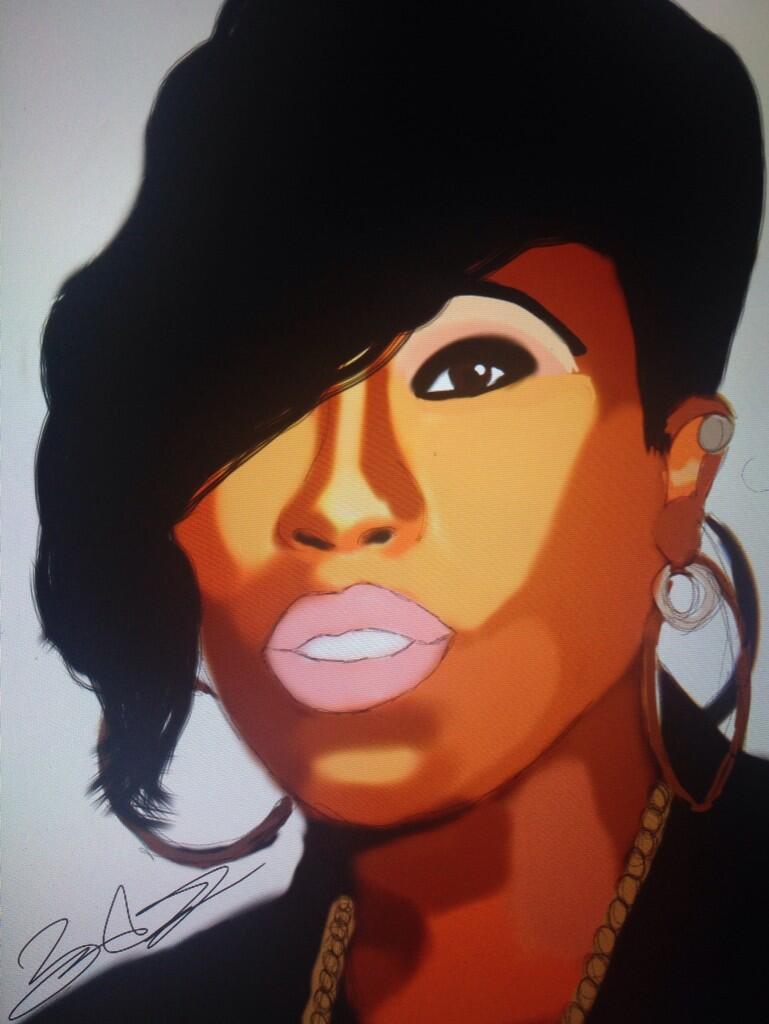 A little something I drew @MissyElliott #missyelliot #hiphop #2014 #rt http://t.co/wk2oB5UpSy