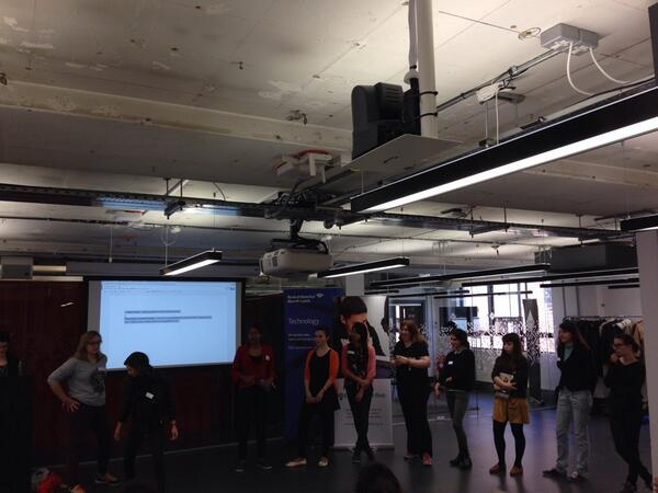 So many girls lined up to pitch at the @CodeFirstGirls hackathon! Exciting! #CFGHack http://t.co/uJp705pdzo