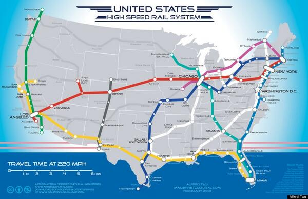Beautiful Maps On Twitter United States High Speed Rail System - Agenda-21-us-map