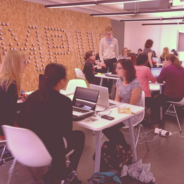 It's 11am and we already have some teams sitting down and getting started #CFGHack http://t.co/0Vk0fVqAYK