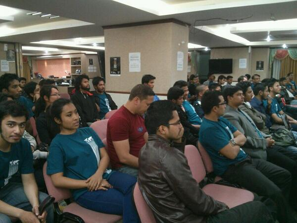 The keen audience at spaceapps challenge in kathmandu #spaceapps #kathmandu http://t.co/V0b99EFSYj