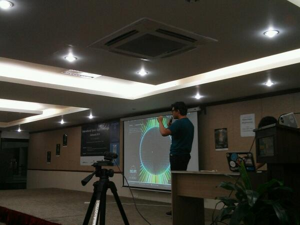 Presentation titled Gravity ongoing at spaceapps challenge #Kathmandu #Spaceapps http://t.co/y0w0CiG3A6