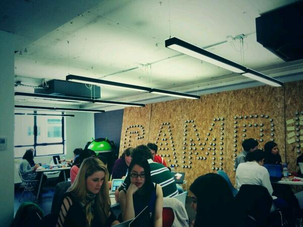 Great to be helping out at the Code First: Girls hackathon today #CFGHack #LeanIn http://t.co/RTuRHp8GJu