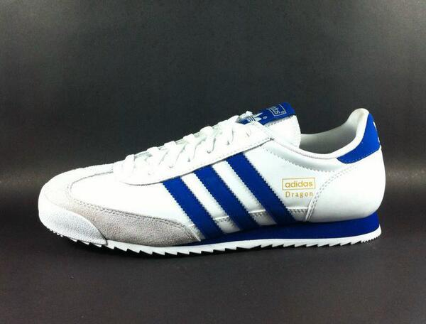 adidas dragon white and blue