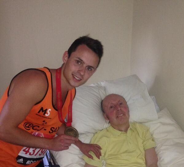Wow. I've now raised £6000 for the @mssocietyuk …words can't describe what this means to me.